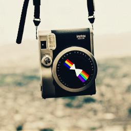 FreeToEdit wppprimarycolors camera lens rainbow retro