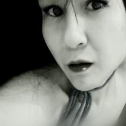 blackandwhite selfie tiltshift artisticselfie emotions freetoedit