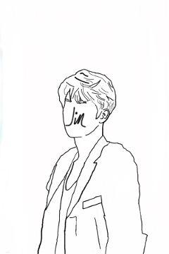 freetoedit drawing people bts jin