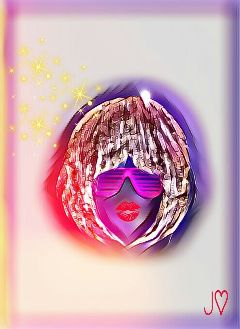 freetoedit hairstyle metallic sunglass glitter