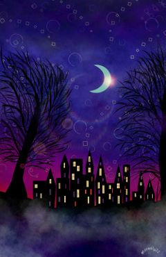wdpnightsky drawing sky art fantasy