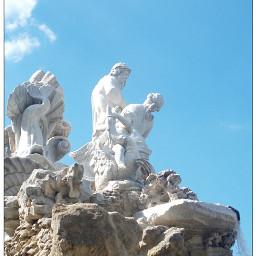 thetis neptune sculpture fountain schonbrunn