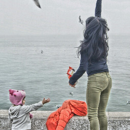 people family bird kids hdr freetoedit