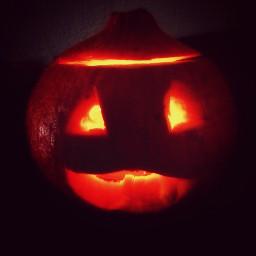pumpkin scary art happy halloween