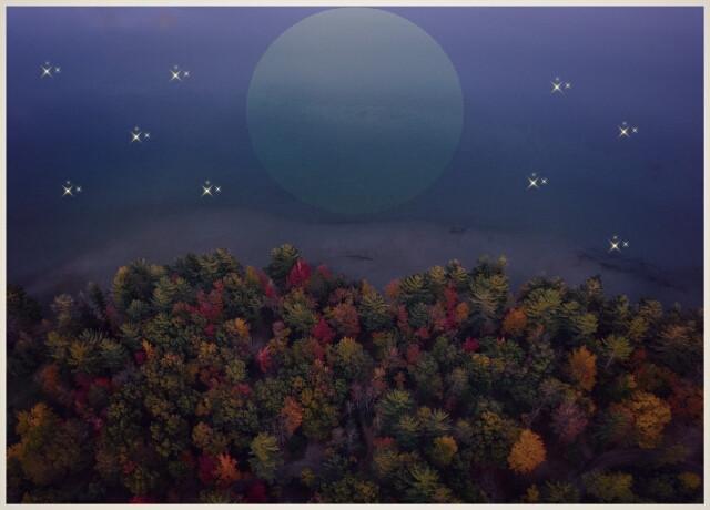 #FreeToEdit #night #nature #stars #moon #autumn