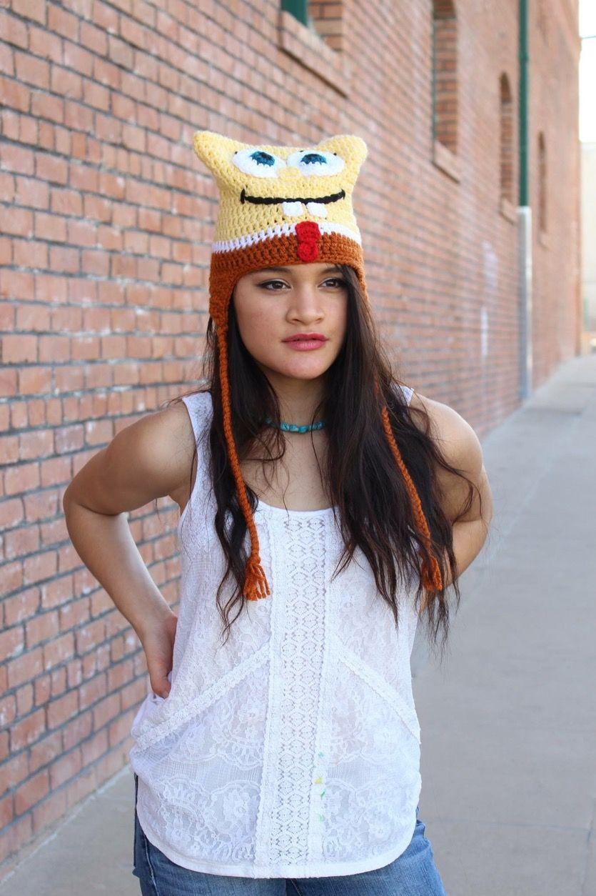 Spongebob slouchy hat. #spongebob #hat #cute #canon #rebelt5i #yellow #fall #friday #tgif #girl #people