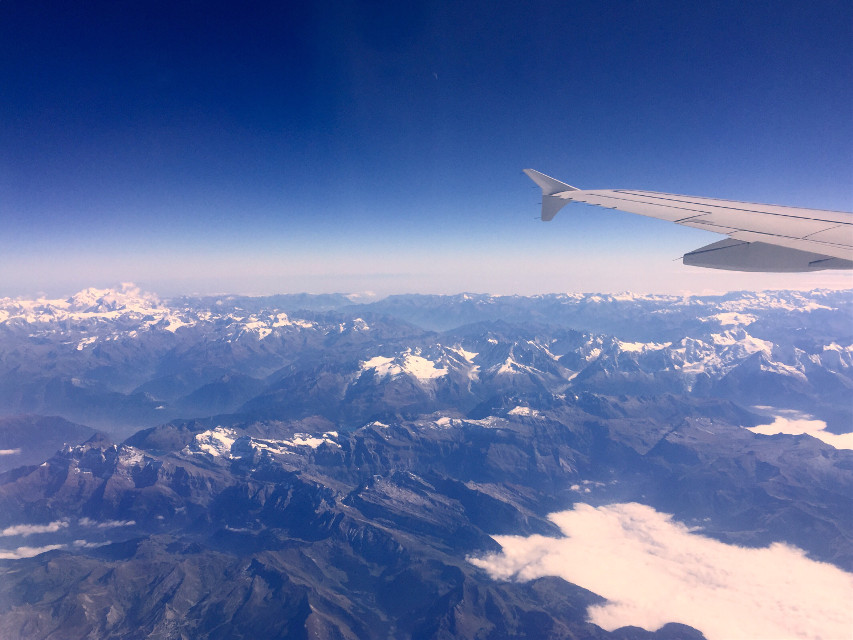Between heaven and Earth ✈️ #high_mountains#blue_sky#airplane#snow#beautiful_view