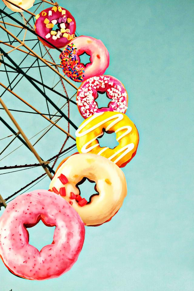 #FreeToEdit  #donuts  #cute #sky #clipart