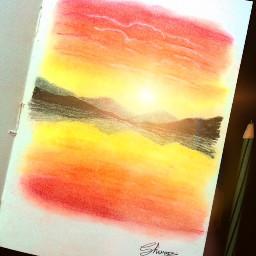 sunset sunrise art interesting painting
