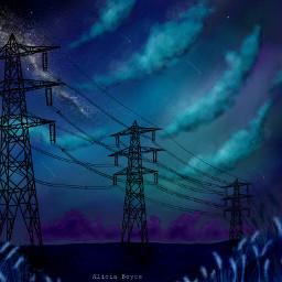 wdpgalaxy drawing sky night field