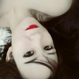 selfie portrait redlips me selfies freetoedit